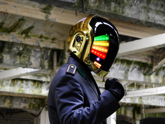 LoveProps Daft Punk Helmet Casco Manuel DIY man rainbow