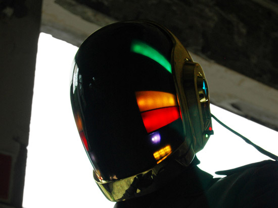 LoveProps Daft Punk Helmet Casco Manuel DIY side foreground