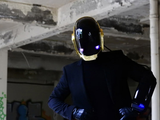 LoveProps Daft Punk Helmet Casco Manuel DIY front blue